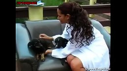 latina babe love hard sex with dog