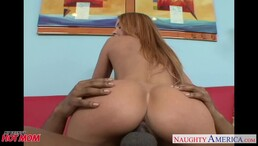 Lustful busty girl love fucking a BBC