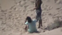 Horny Arab couple fucking at the beach